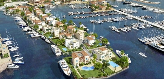 Seafront House in Limassol with Yacht Mooring