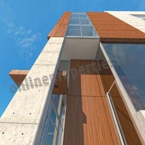 High Tech, Energy efficient Modern Building