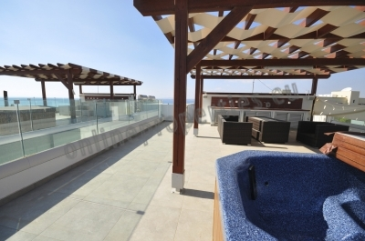Upper floor 3 b apt with roof garden and Jacuzzi